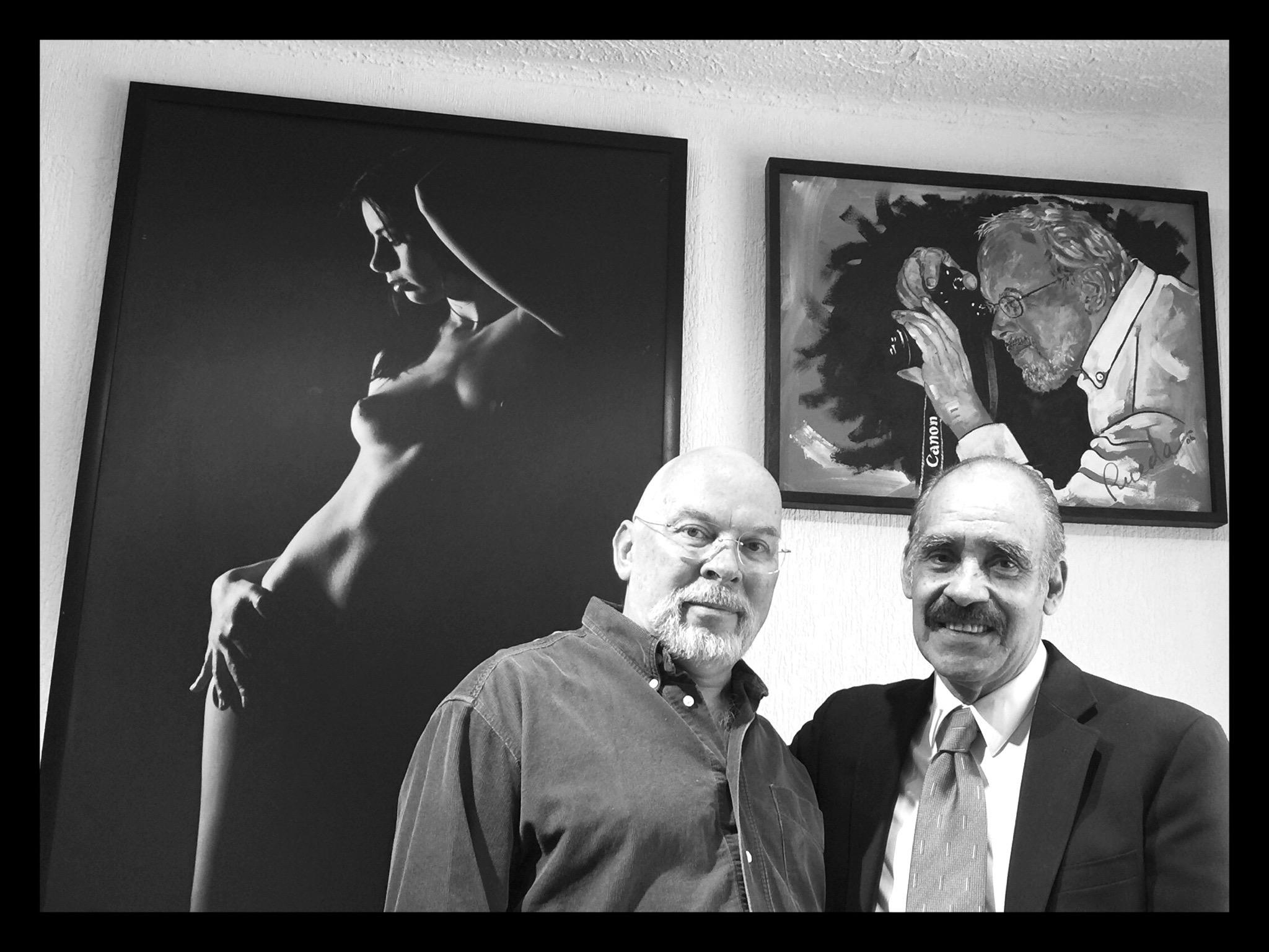Una visita inesperada: el pintor José Luis Rueda en Ediciones del Ermitaño