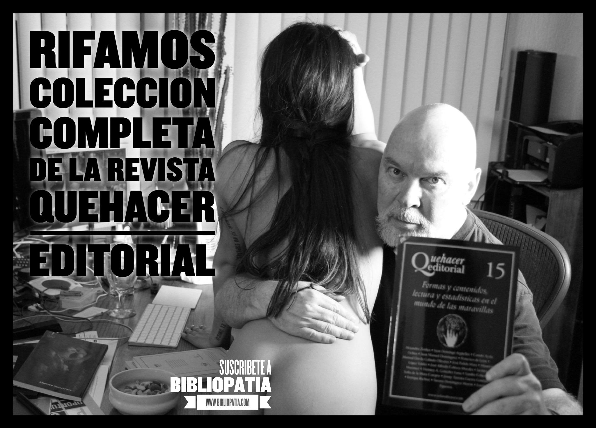 Entre Quehacer Editorial y una mujer desnuda… ¡Bibliopatía!